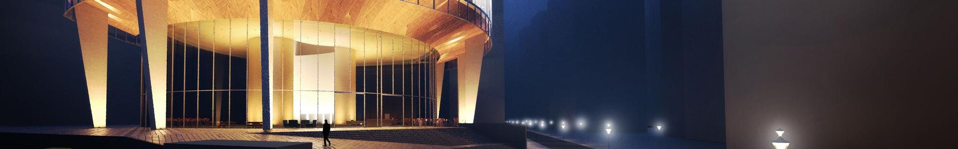 Rendering Commercial Exterior (Night)
